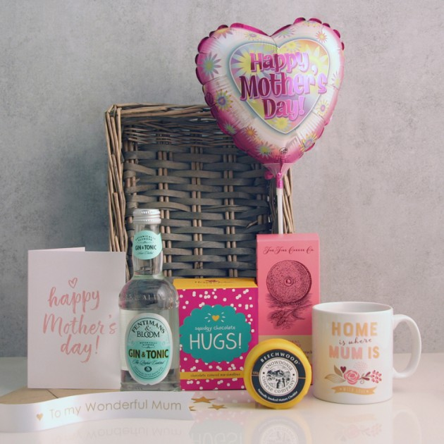 Hampers and Gifts to the UK - Send the A Home Is Where Mum Is Gift Basket