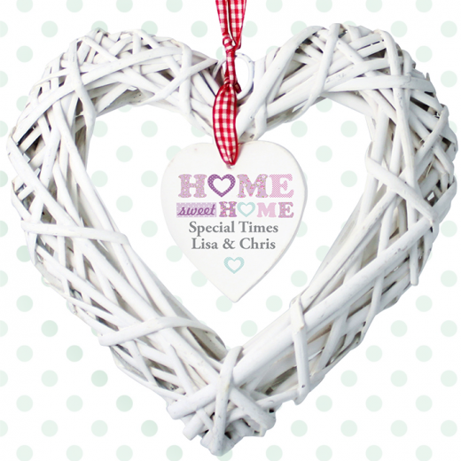 Hampers and Gifts to the UK - Send the Personalised Home Sweet Home Floral Heart