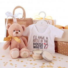 Hampers and Gifts to the UK - Send the Bottle of The House White Baby Gift