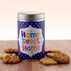 Hampers and Gifts to the UK - Send the Home Sweet Home Tin with a Dozen Cookies