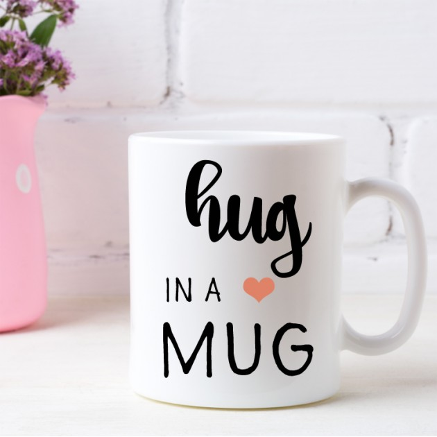 Hampers and Gifts to the UK - Send the Hug In A Mug with a Heart
