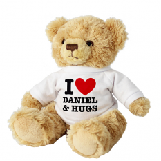 Hampers and Gifts to the UK - Send the Personalised I Heart Teddy Bear