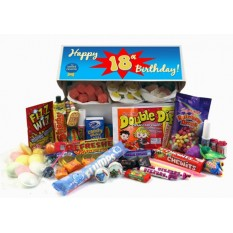 Hampers and Gifts to the UK - Send the Retro Sweets Gift Box - Happy 18th Birthday