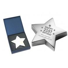 21st Birthday Star Paperweight