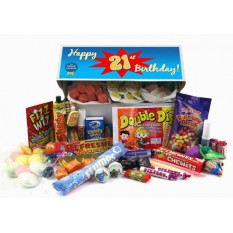 Hampers and Gifts to the UK - Send the Retro Sweets Gift Box - 21st Birthday