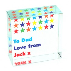 Hampers and Gifts to the UK - Send the Personalised Multicoloured Star Glass Token