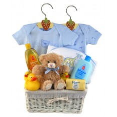 Hampers and Gifts to the UK - Send the Baby Boy Bubbles n Cuddles Gift Hamper