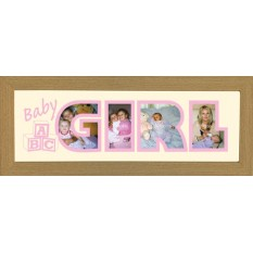 Hampers and Gifts to the UK - Send the Photos In A Word - Baby Girl Frame