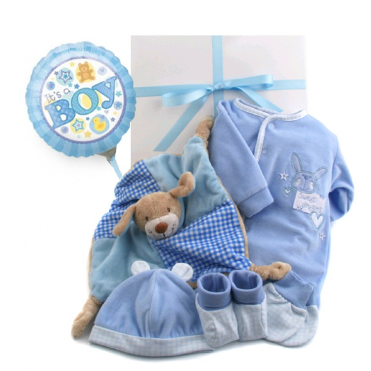 Baby Boy Gift Box : Baby boy sweet dreams gift box with new balloon