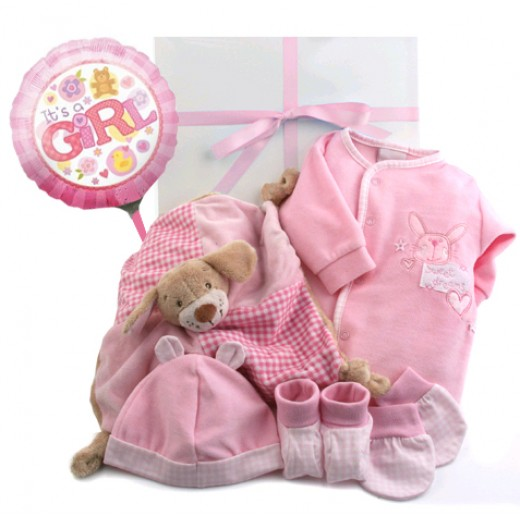Hampers and Gifts to the UK - Send the Baby Girl Sweet Dreams Gift Box