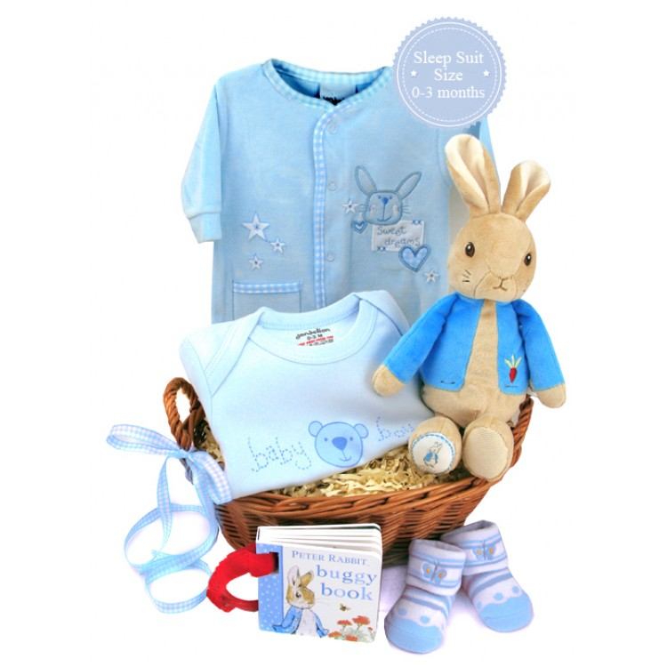 Baby Gift Baskets Delivered Uk : Baby boy gift baskets with peter rabbit new ideas