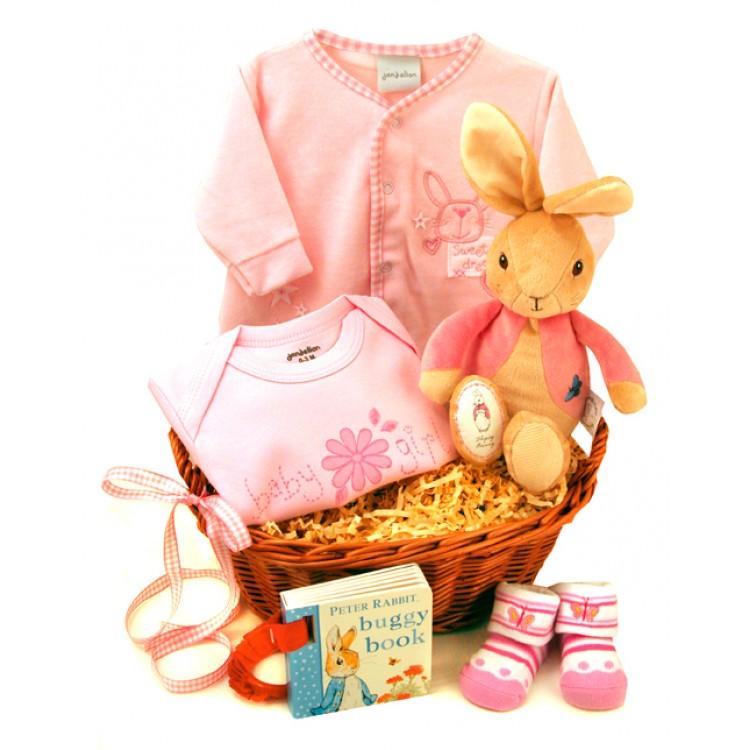 Newborn Baby Gift Baskets Girl : Sweet baby girl gift basket
