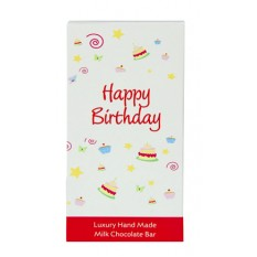 Hampers and Gifts to the UK - Send the Message Chocolate Bar Happy Birthday