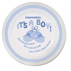 Hampers and Gifts to the UK - Send the It's A Boy Personalised China Plate
