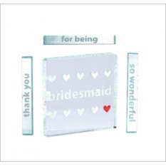 Hampers and Gifts to the UK - Send the Thank You Bridesmaid Miniature Spaceform Token