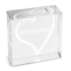 Hampers and Gifts to the UK - Send the Personalised Crystal Paperweight - White Heart