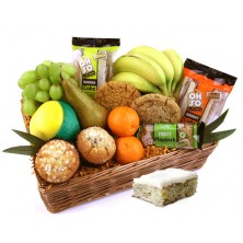 Oh So Scrummy Fruit and Cake Gift Basket