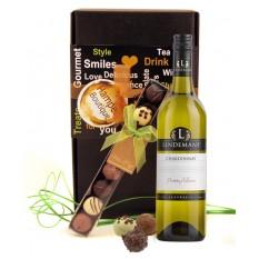 Chardonnay Wine Chocolates Gift Basket