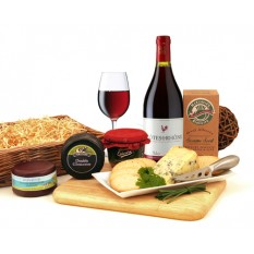 Hampers and Gifts to the UK - Send the Cheese and Wine Hamper with Pate