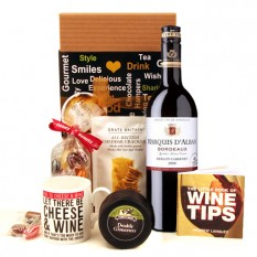 Hampers and Gifts to the UK - Send the Let There Be Cheese and Wine Gift Box