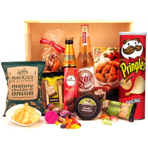 gift food hampers for men buy the chill out gift box with beer. Black Bedroom Furniture Sets. Home Design Ideas