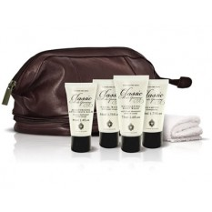 Hampers and Gifts to the UK - Send the Classic Male Grooming Leather Travel Bag