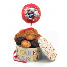 Hampers and Gifts to the UK - Send the Cookies Muffins and Balloon - Birthday LUXURY