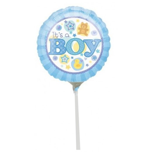 Hampers and Gifts to the UK - Send the It's A Baby Boy Baby Mini Balloon