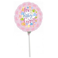 Hampers and Gifts to the UK - Send the It's A Baby Girl Baby Mini Balloon