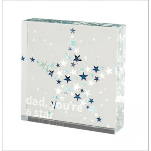 Hampers and Gifts to the UK - Send the Dad You're A Star Medium Spaceform Paperweight