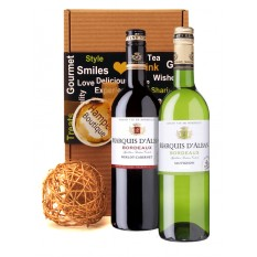 Hampers and Gifts to the UK - Send the French Wine Duo Presentation Box