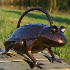 Bronze Frog Watering Can