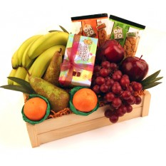 Hampers and Gifts to the UK - Send the Happy Birthday Fruit Basket with Chocolates