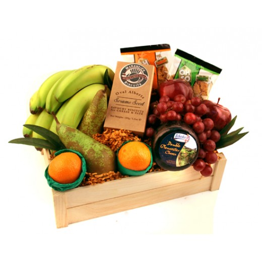 Hampers and Gifts to the UK - Send the Fruit and Cheese Gift Basket