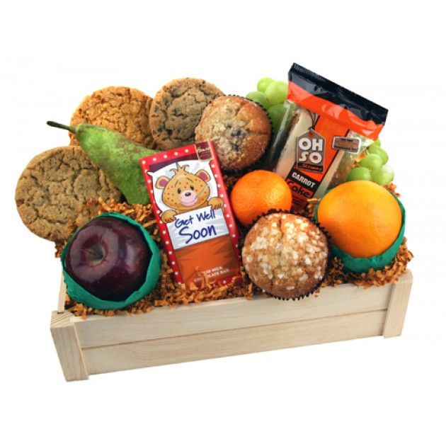 Hampers and Gifts to the UK - Send the Get Well Soon Fruit and Cookies