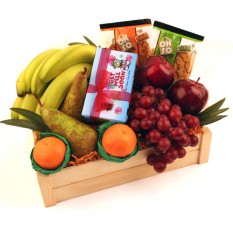 Hampers and Gifts to the UK - Send the Get Well Soon Chocolate Ballotin and Fruit