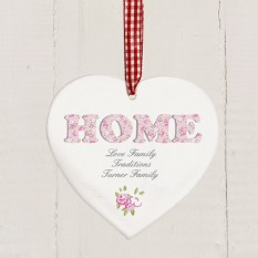 Hampers and Gifts to the UK - Send the HOME Wooden Heart Personalised
