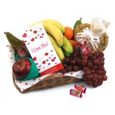 Hampers and Gifts to the UK - Send the I Love You Fruit Gift Basket