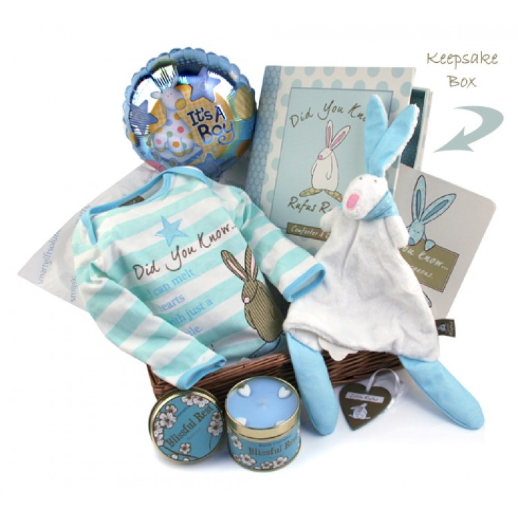 New Born Baby Boy Gifts Uk : Newborn baby boy welcome home gift basket