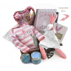 Hampers and Gifts to the UK - Send the Baby Girl Welcome Gift Basket