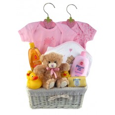 Hampers and Gifts to the UK - Send the Baby Girl Bubbles n Cuddles Gift Hamper
