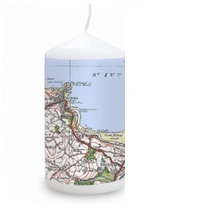 Hampers and Gifts to the UK - Send the Personalised Popular Edition Map Candle