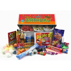 Hampers and Gifts to the UK - Send the Retro Sweets Gift Box - Happy Birthday