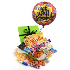 Hampers and Gifts to the UK - Send the Retro Sweet Sensations - GET WELL