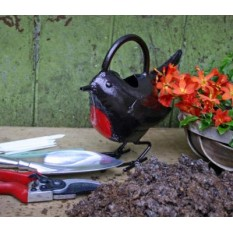 Bronze Watering Can - Robin
