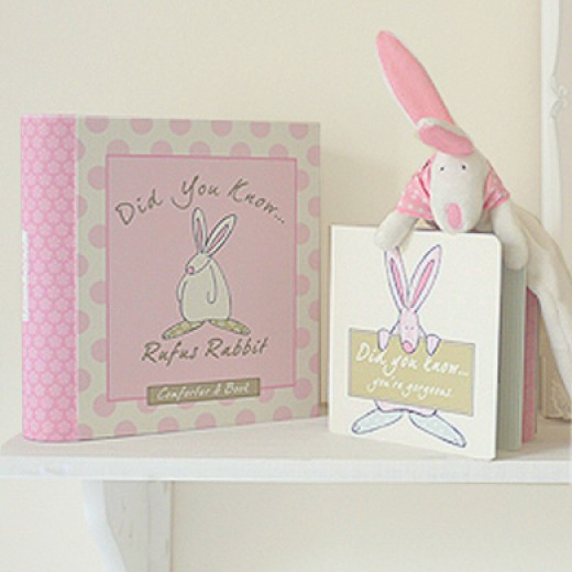 Hampers and Gifts to the UK - Send the Little Rufus Comforter and Book Gift Set Girl