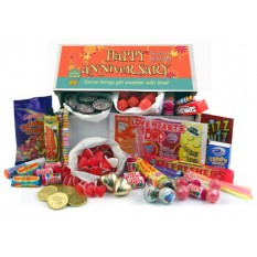 Hampers and Gifts to the UK - Send the Retro Sweets Gift Box - Happy Anniversary