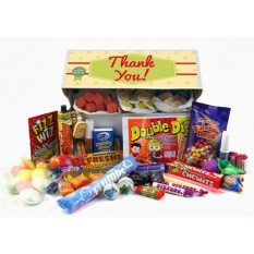 Hampers and Gifts to the UK - Send the Retro Sweets Gift Box - Thank You