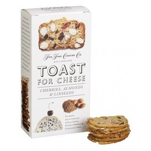 Hampers and Gifts to the UK - Send the Toast for Cheese Cherries and Almonds