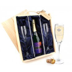 Hampers and Gifts to the UK - Send the Celebration Bucks Fizz and WEDDING Flutes